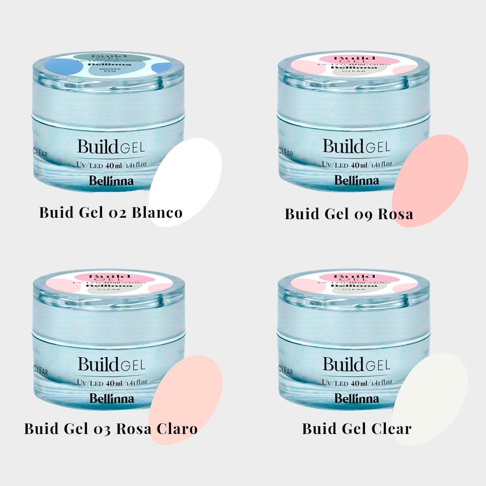 4 geles constructores de Bellinna Cosmetics