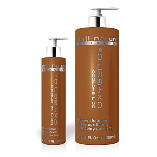 Bain Shampoo Oxigen O2 de Abril et Nature en formatos 200ml y 1000ml