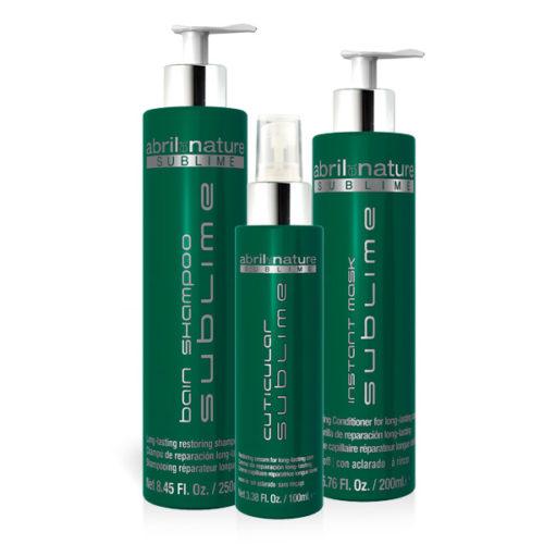 Abril et Nature Bain Shampoo, Instant Mask y Cuticular Sublime