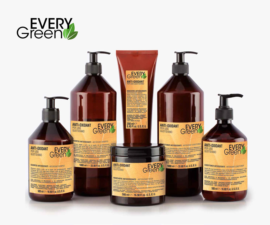 Everygreen Anti Oxidant, champú, mascarilla y acondicionador