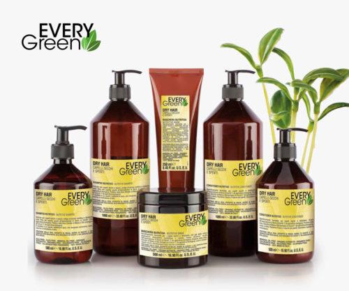 Everygreen Dry Hair, champú, mascarilla y acondicionador