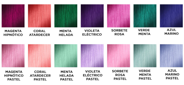 Gama L'Oréal Colorfull sin amoniaco