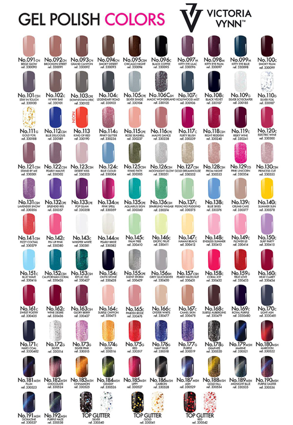 Victoria Vynn Gel Polish Color 091 al 192