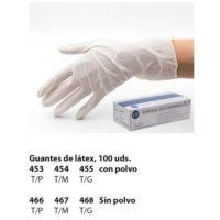 guantes de látex desechables con/sin polvo