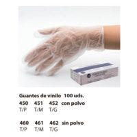 guantes de vinilo desechables con/sin polvo