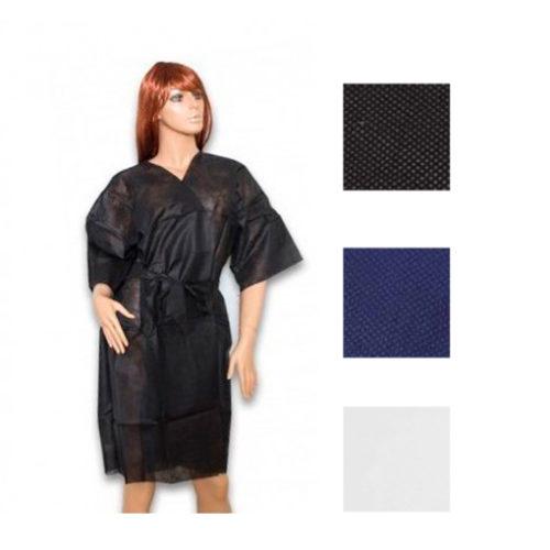 kimono TNT negro, azul y blanco desechable